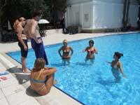 Расслабление в бассейне