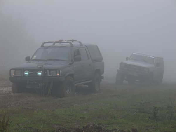 Непроходимость дорог усугубил густой туман